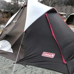 強風の中、年越しキャンプ開始!