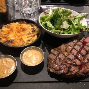 #フランス #アルザス を離れ #パリ でステーキをガツンと