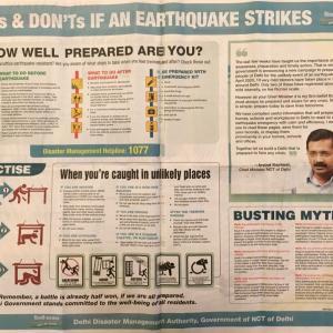 デリーの次なる備えは地震