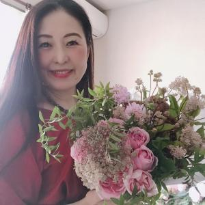 fresh bouquet作りました♡田園調布マロウ花♡