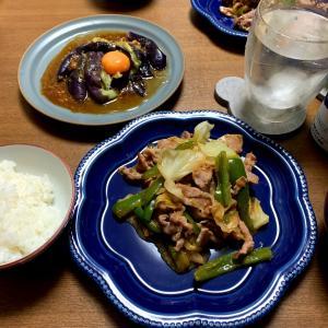 おうちごはん9/5  回鍋肉と茄子ユッケ
