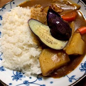 おうちごはん9/27 カレーとカニカマ炒飯