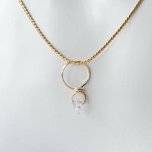 可愛らしくて美しいハーキマーダイヤモンドをサージカルステンレスで