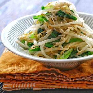 めんつゆで簡単!*小松菜ともやしとしらすのサラダ*