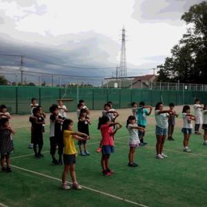 杉戸町第三小学校 放課後わくわく教室のソフトテニス体験