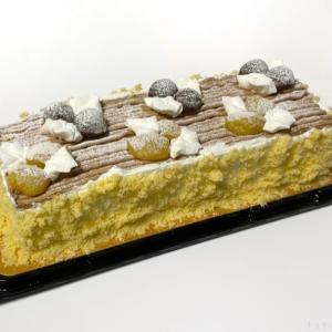 コストコの『モンブランバーケーキ』が2色の栗がオシャレで美味しい!