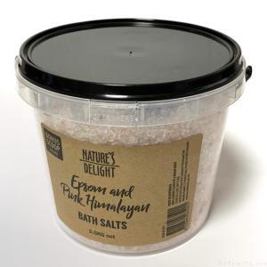 コストコの『ネイチャーズ デライト エプソム ヒマラヤ バスソルト 2.5kg』がオシャレでバケツに入ってイイ!