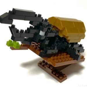 100均セリアの『ヘラクレスオオカブト(キッズブロック)』は黄褐色な羽でカッコイイ!