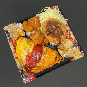 かつやの『わんぱくオムそば オムナポリタンとから揚げ・メンチカツのソースカツ弁当』が破壊力ある弁当で超おいしい!