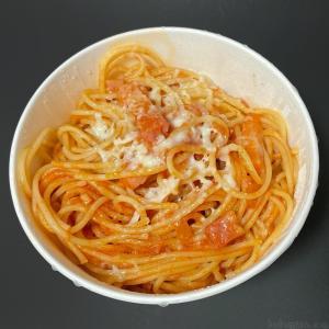 サイゼリヤの『パルマ風スパゲッティ』テイクアウトがトマトとベーコンで超おいしい!