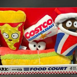 コストコの『BARK COSTCO FOOD COURTペット用おもちゃ4個セット』が音が鳴る犬のオモチャで可愛い!