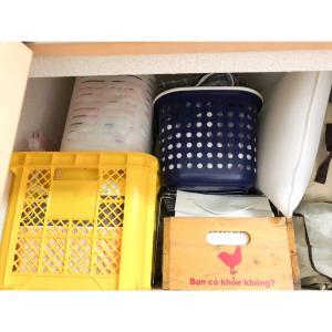 ダイソー人気のフタ付き収納ボックス