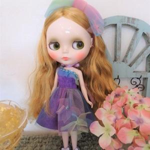 タイムアフターアリスに紫陽花ドレスを
