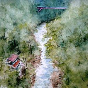 初秋の奥多摩の渓谷