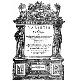 和訳:「 VARIETIE OF LUTE-lessons 」
