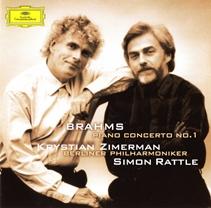 ツィメルマン&ラトル:Brahms Piano Con No.1