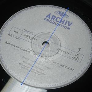 レコード盤のエンドトラック