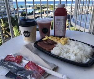 ハワイ限定マクドナルドの朝食スパムご飯!