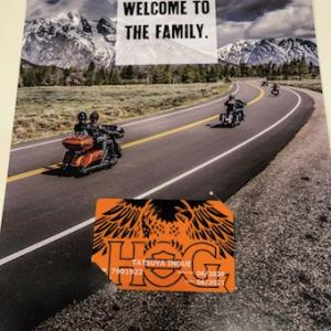 ハワイのハーレー2020HOGメンバーカード!