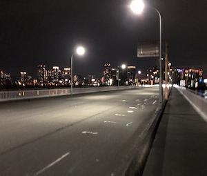 熱帯夜のUber配達!メンタル強化の淀川越え