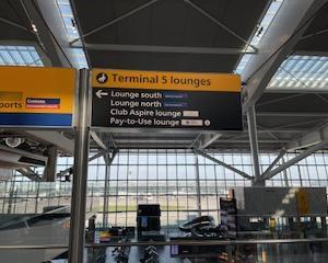 イギリス・ヒースロー空港・航空会社ラウンジ