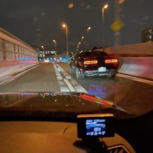 夜の阪神高速!ダッジ・チャレンジャー