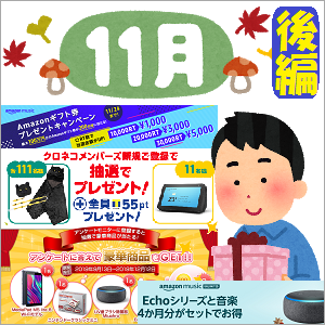 全機種:'19-11月のスマートスピーカー関係プレゼントキャンペーンをかき集めてみました!!【後編】