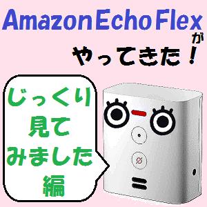 AmazonEcho:我が家に「Amazon Echo Flex」がやってきた!!【じっくり見てみました編】
