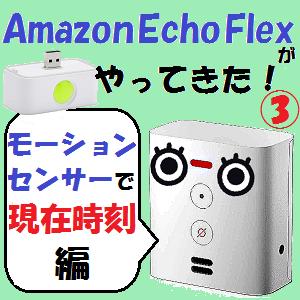 AmazonEcho:我が家に「Amazon Echo Flex」がやってきた!!【モーションセンサーで現在時刻!編】