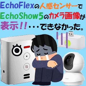 AmazonEcho:Echo Flexの人感センサーでEcho Show5のカメラ画像が表示!!・・・できなかった。