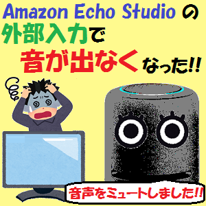 AmazonEcho:Amazon Echo Studioの外部入力で音が出なくなった!その原因と対策は??