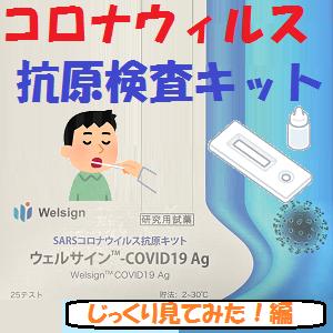 その他:コロナウィルス抗原検査キット【じっくり見てみた!編】