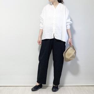 〇〇11日*着画*pongee French Linen ブラウス…【Rakuten Fashion】1000円オフクーポン追加〜〇〇