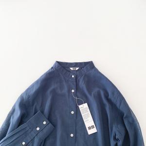 〇〇*画*UNIQLO購入品!シアーバンドカラーシャツ(長袖)お買い物マラソンチェック〜〇〇