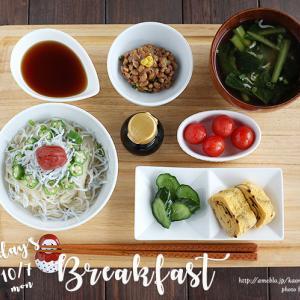 朝メン! しらす+オクラ+梅干し+糖質0g麺(糖質制限)