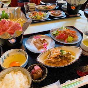 お楽しみの夕食「仙台牛のすき焼き」会席