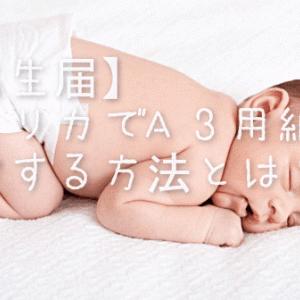 【出生届】アメリカでA3用紙を印字する方法とは?