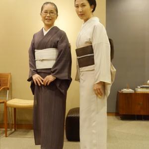 お誂え着物完成、衣司武美へ、年中使えるカジュアル白帯ライザップ!逆リンクコーデ