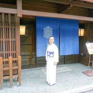 日常を愉しむ!心身の体力保持、居様IZAMAでランチ:白夏単衣に紫地白辻が花帯締めて
