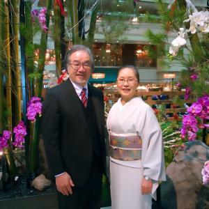 中華でお正月祝膳!レストラン花閒(かかん)で!徳田義三の本夾纈七宝帯で