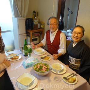 イエメン学生による腎臓に優しいお料理の新年会!市松桐椿文の帯締めて