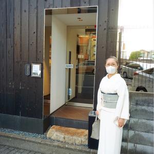 『串揚げToshico』で理事長終了お祝い!職人さん匠の技の新しい衣司武美の染帯締めて