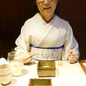 盛夏の着物帯オールホワイトコーデ!お魚料理を堪能・割烹料理「楽膳柿沼」!