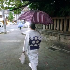 Go to イート初挑戦・京料理割烹「楽膳柿沼」へ!辻が花の帯締めて