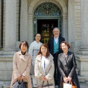 京都の迎賓館で、オンラインワークショップの反省会!初下ろしの蕨紬の着物で