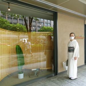 夏向き涼しい帯を探して、衣司武美へ!超個性的訪問着に遭遇!!