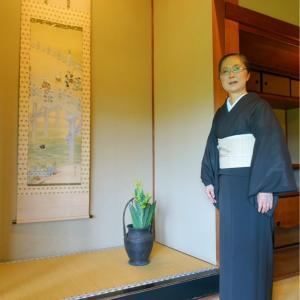 皇室ゆかりの吉田山荘でリモートワーク!パイナップル繊維ピーニャの帯締めて