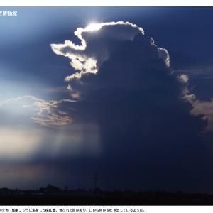 ゴジラ雲、現る!(2016/11/3の再掲)