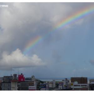 7月21日の朝虹