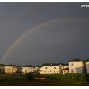 夏本番前の虹
